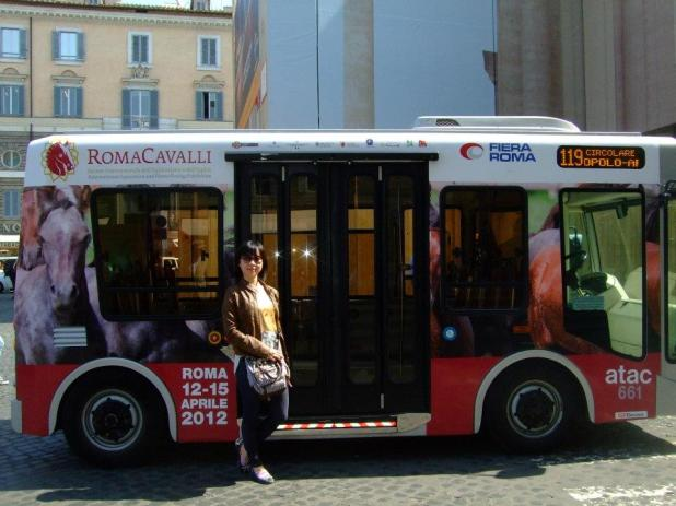 Mini bus in Rome