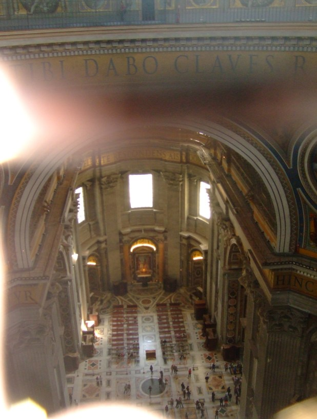 The interior of St. Peter's Basilica