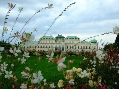 Belvedere Palace where Gustav Klimt's 'The Kiss' was kept.