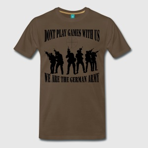 dont-play-games-with-us-bw-t-shirts-maenner-premium-t-shirt