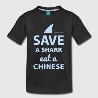 save-a-shark-eat-a-chinese-kinder-premium-t-shirt