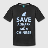 save-a-shark-eat-a-chinese-kinder-premium-t-shirt
